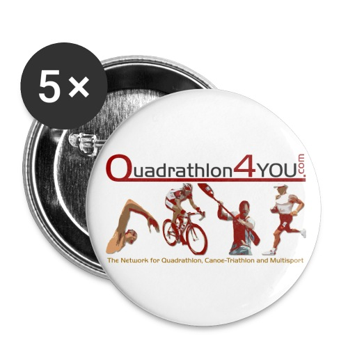 Q4U Logo bunt - Buttons large 2.2''/56 mm(5-pack)