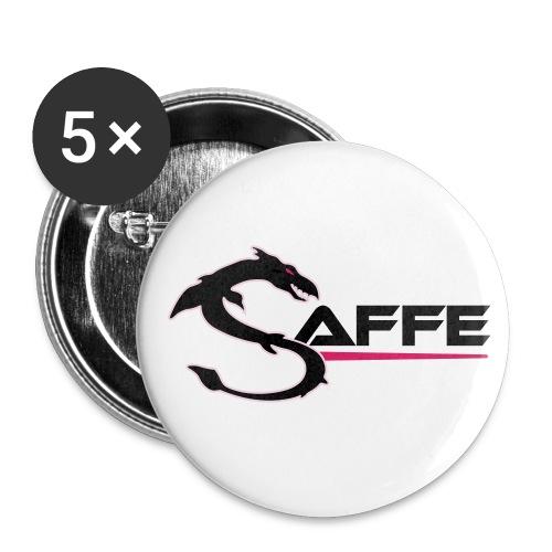 saffe logo - Buttons groß 56 mm (5er Pack)