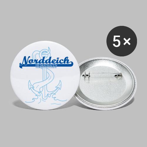 Heimathafen Norddeich - Buttons groß 56 mm (5er Pack)