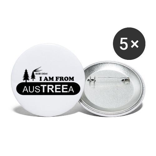 BAM OIDA! I am from AusTREEa (Österreich) - Buttons groß 56 mm (5er Pack)