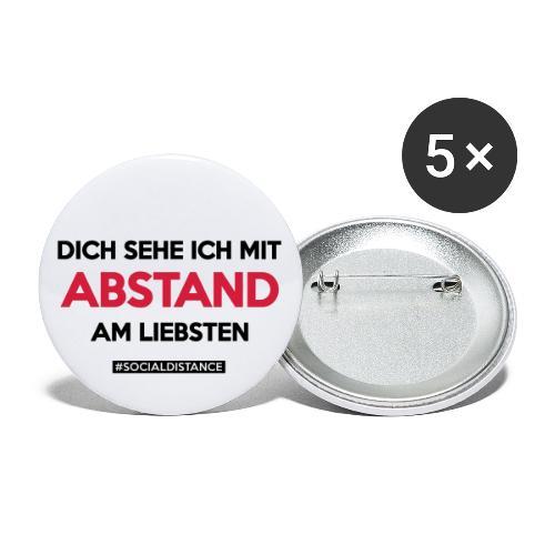 Dich sehe ich mit ABSTAND am Liebsten - Buttons groß 56 mm (5er Pack)