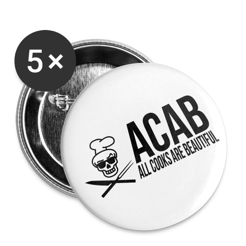acablang - Buttons groß 56 mm (5er Pack)