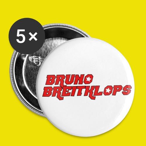 Bruno Breitklops - Buttons groß 56 mm (5er Pack)