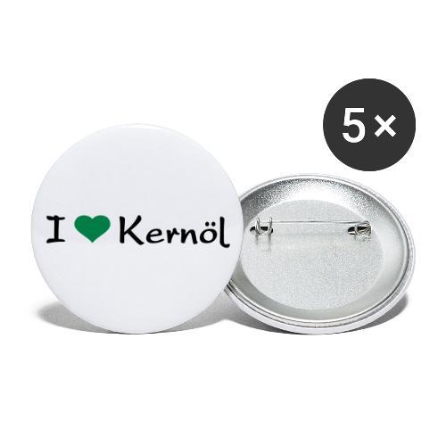 I mog Kernöl - Buttons groß 56 mm (5er Pack)