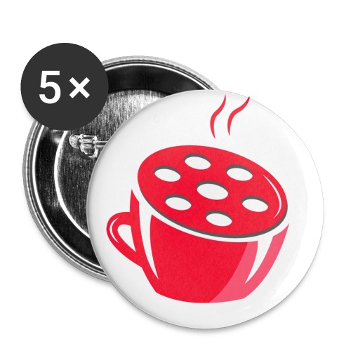 Logo Tivlog - Buttons groß 56 mm (5er Pack)