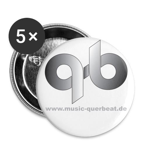 qbshirtweiss - Buttons groß 56 mm (5er Pack)
