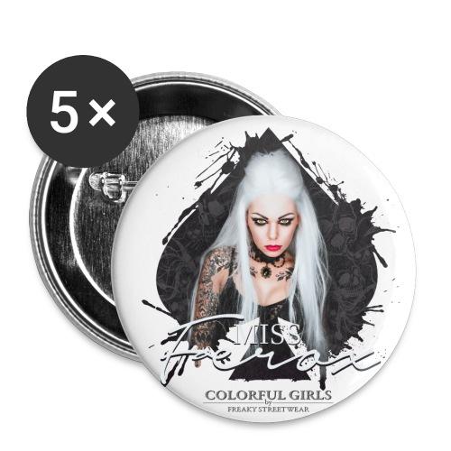 Miss Ferox - Buttons groß 56 mm (5er Pack)