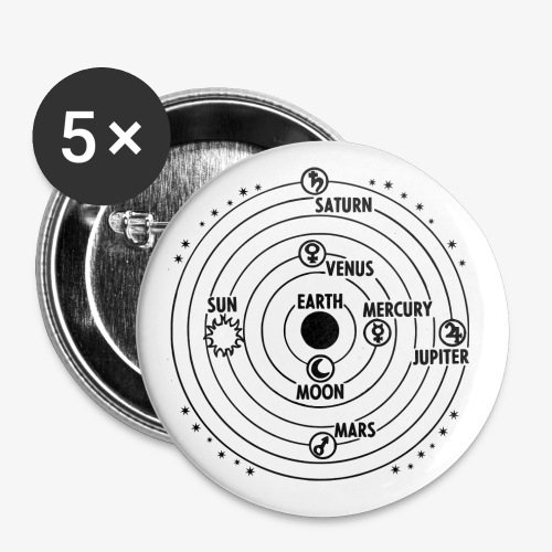 earth 2026315 png - Buttons groß 56 mm (5er Pack)