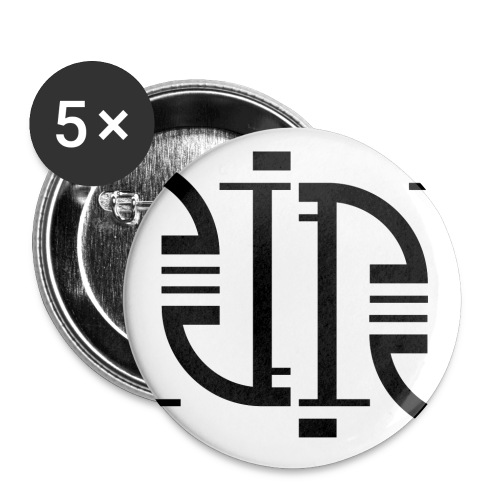 Motif en J - Lot de 5 grands badges (56 mm)
