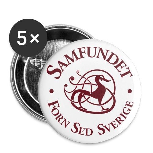 Runhunden rund stor - Stora knappar 56 mm (5-pack)