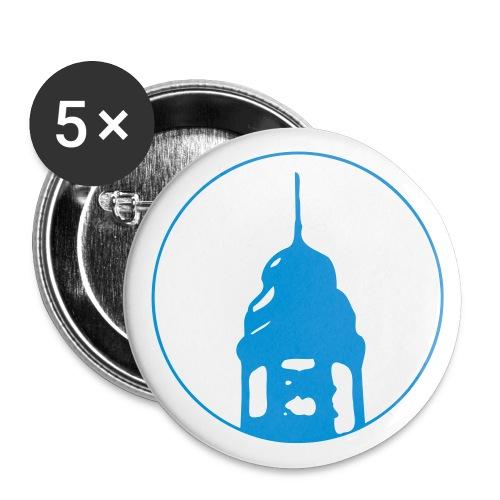 Neckarstadtblog Logo (alternative Farben) - Buttons groß 56 mm (5er Pack)