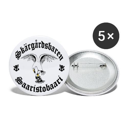 Black logo - Rintamerkit isot 56 mm (5kpl pakkauksessa)