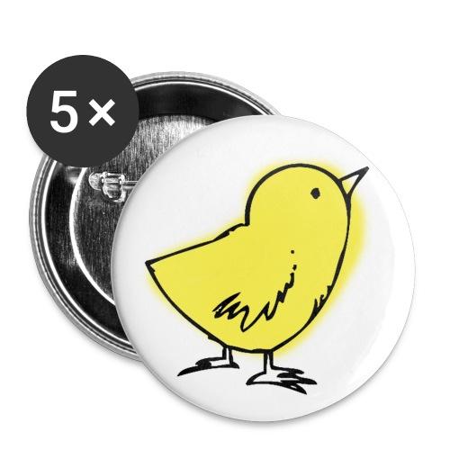 küken png - Buttons groß 56 mm (5er Pack)