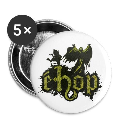 ehop nouveau logo png - Lot de 5 grands badges (56 mm)