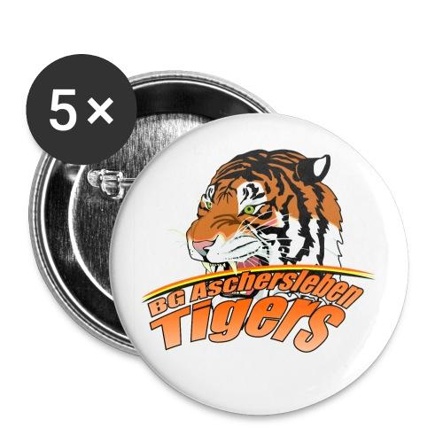 tigerslogo11png - Buttons groß 56 mm (5er Pack)