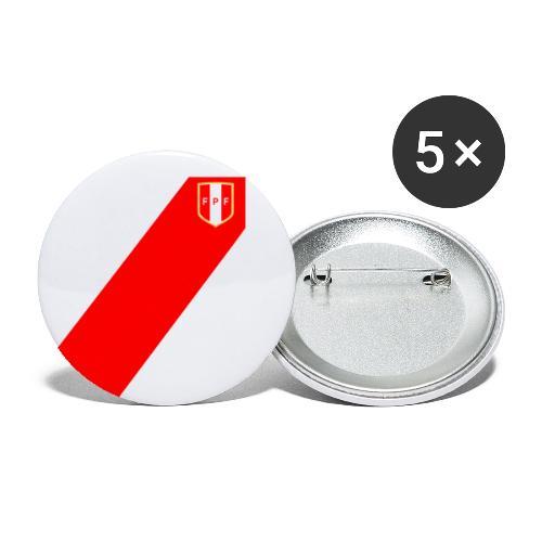 Seleccion peruana de futbol - Lot de 5 grands badges (56 mm)