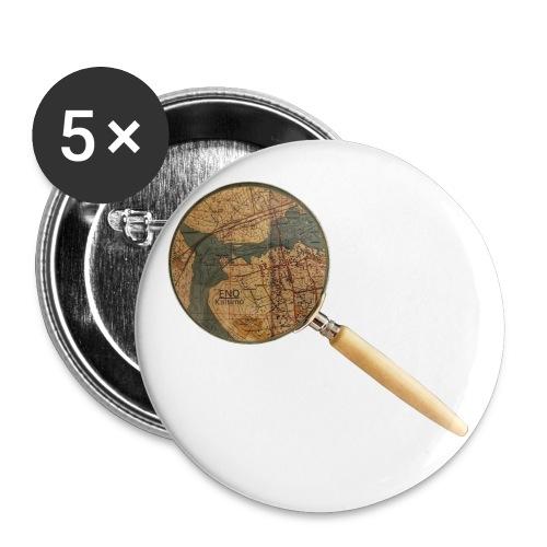 Etsivä löytää Enon - Rintamerkit isot 56 mm (5kpl pakkauksessa)