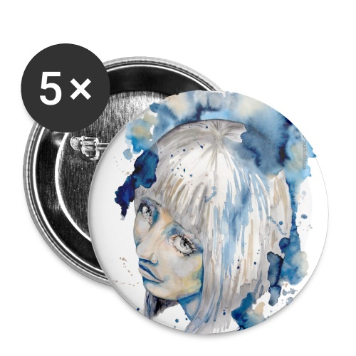 Nieves watercolorpainting by carographic - Buttons groß 56 mm (5er Pack)