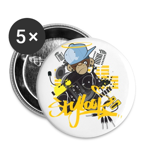 Styloop Monkey - Buttons groß 56 mm (5er Pack)