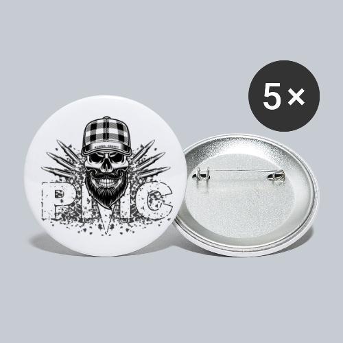 PMC Skull white - Buttons groß 56 mm (5er Pack)