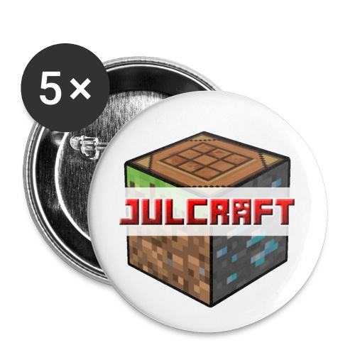 Julcraft Logo - Buttons groß 56 mm (5er Pack)