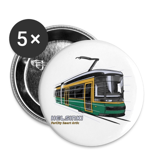 Helsingin Raitiovaunu T-paidat, 154 upeaa tuotetta - Rintamerkit isot 56 mm (5kpl pakkauksessa)