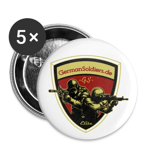 GermanSoldiers Clan 4 - Buttons groß 56 mm (5er Pack)
