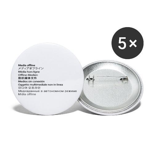 Media Offline - Buttons groß 56 mm (5er Pack)