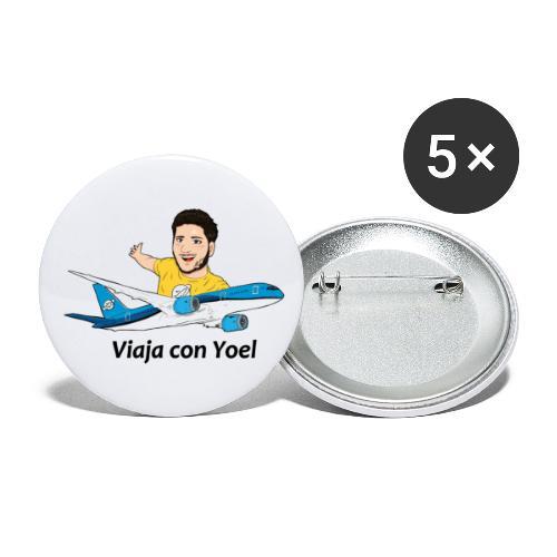 Frequent Flyer Yellow Viaja con Yoel - Paquete de 5 chapas grandes (56 mm)