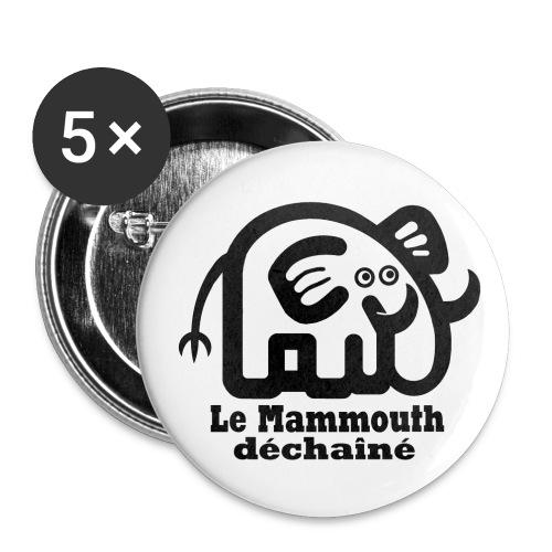 logo titre mammmouth - Lot de 5 grands badges (56 mm)