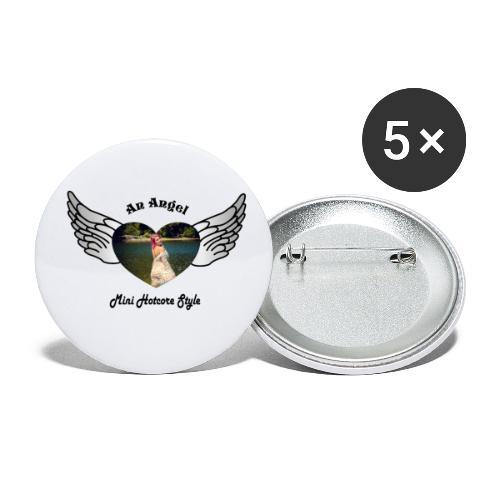 An Angel bunt - Buttons groß 56 mm (5er Pack)