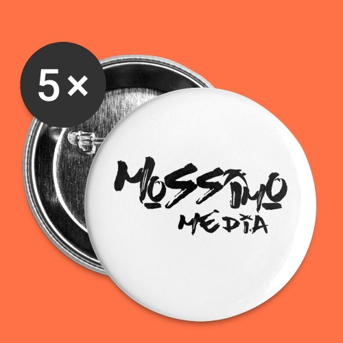 mossimo media text png - Buttons large 2.2''/56 mm (5-pack)