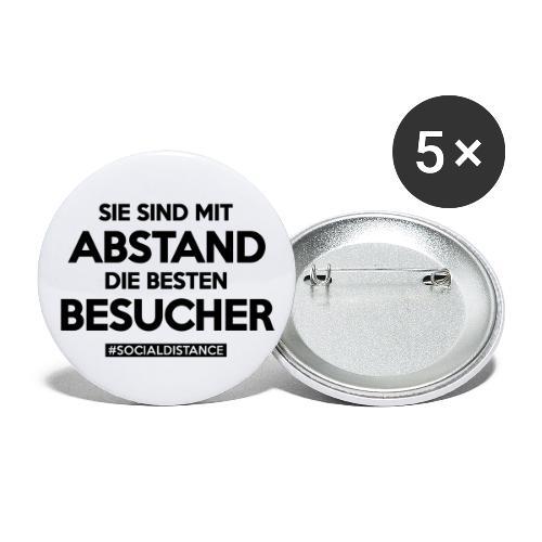 Sie sind mit ABSTAND die besten BESUCHER - Buttons groß 56 mm (5er Pack)