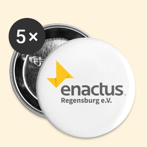 Enactus Regensburg e V schwarze Schrift - Buttons groß 56 mm (5er Pack)