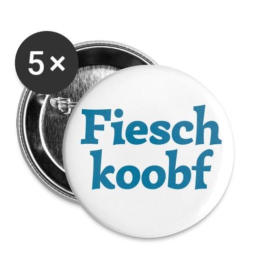 Fieschkoobf (hochdeutsch: Fischkopf) - Buttons groß 56 mm (5er Pack)
