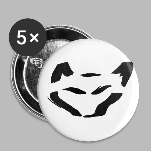 wolf - Buttons groß 56 mm (5er Pack)