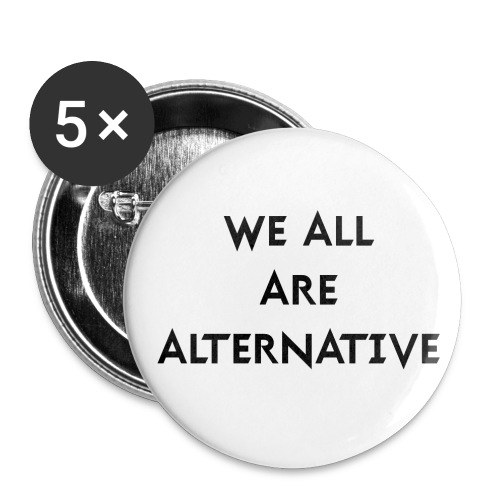 We All Buttons 56mm - Przypinka duża 56 mm (pakiet 5 szt.)