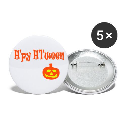 Happy Halloween - Buttons groß 56 mm (5er Pack)