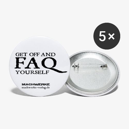 Get off! - Buttons groß 56 mm (5er Pack)