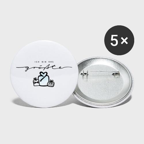 Das größte Geschenk – Baby Kollektion - Buttons groß 56 mm (5er Pack)