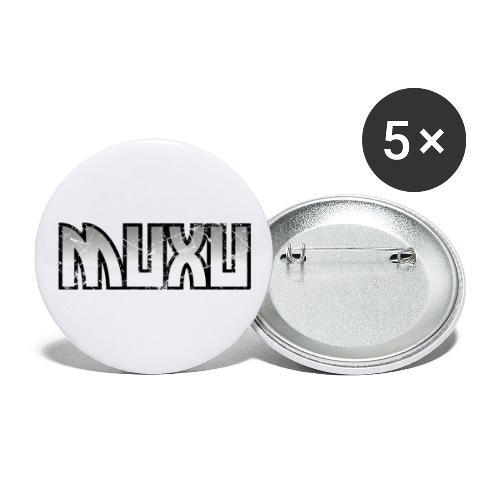 Muxu Black&White Grunge - Paquete de 5 chapas grandes (56 mm)