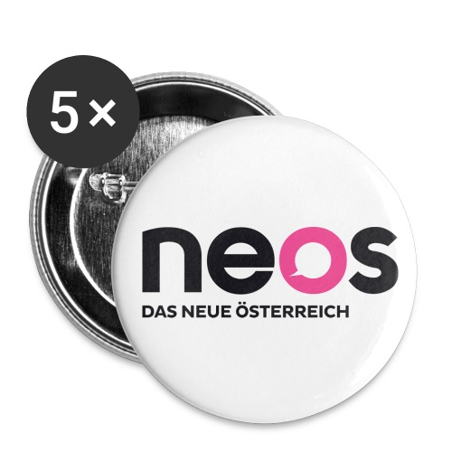 neos logo final - Buttons groß 56 mm (5er Pack)