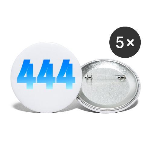 444 annonce que des Anges vous entourent. - Lot de 5 grands badges (56 mm)