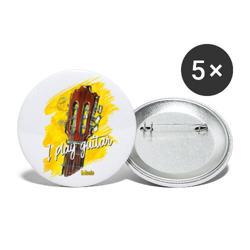I play guitar - limited edition '19 - Buttons groß 56 mm (5er Pack)