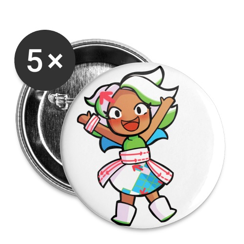 Deshima-chan - Buttons groot 56 mm (5-pack)