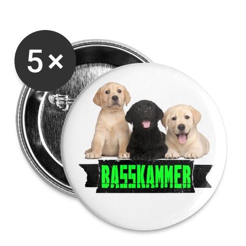 basskammertitel - Buttons groß 56 mm (5er Pack)