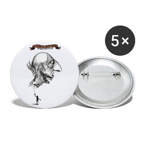 LEFIMI T-SHIRT - Confezione da 5 spille grandi (56 mm)