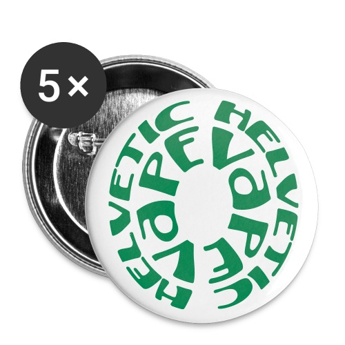 tshirt helvetic vape rnd 1 exp - Lot de 5 grands badges (56 mm)