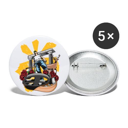 Detectorist experience - Paquete de 5 chapas grandes (56 mm)