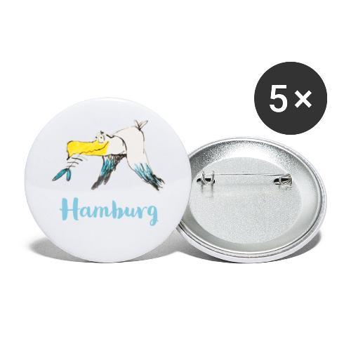 WitzigeHamburg Moewe - Buttons groß 56 mm (5er Pack)